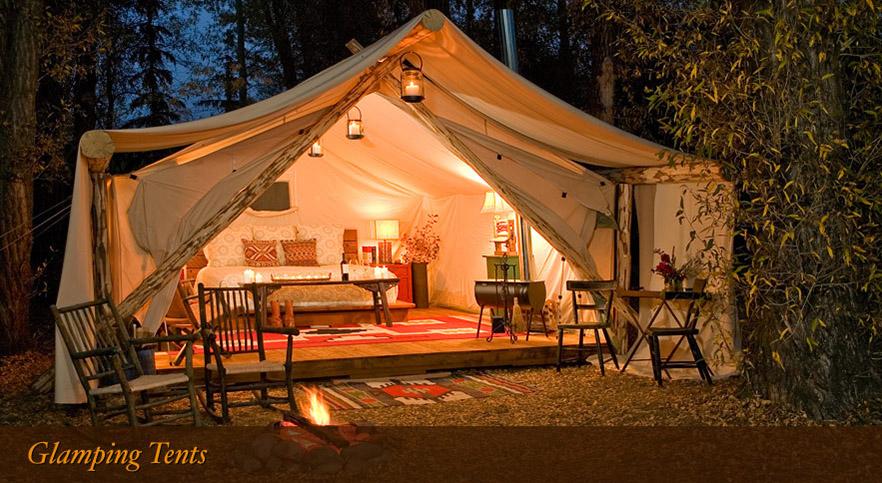 Glamping: una tenda chic - firesidejacksonhole.com - immagine pubblicata da greenteaforbreakfast