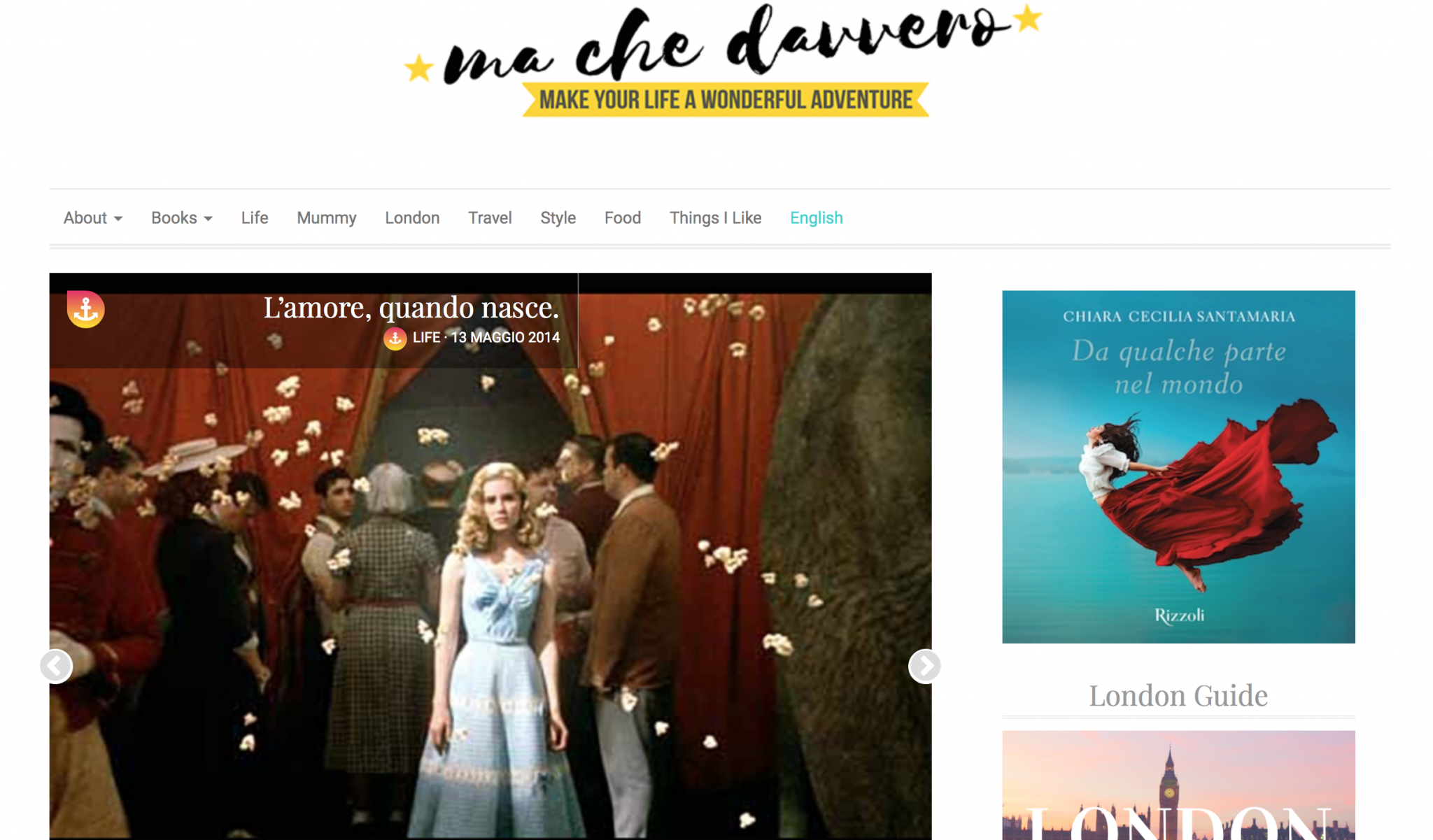 screenshot del blog machedavvero.it - pubblicato da tatianaberlaffa.com