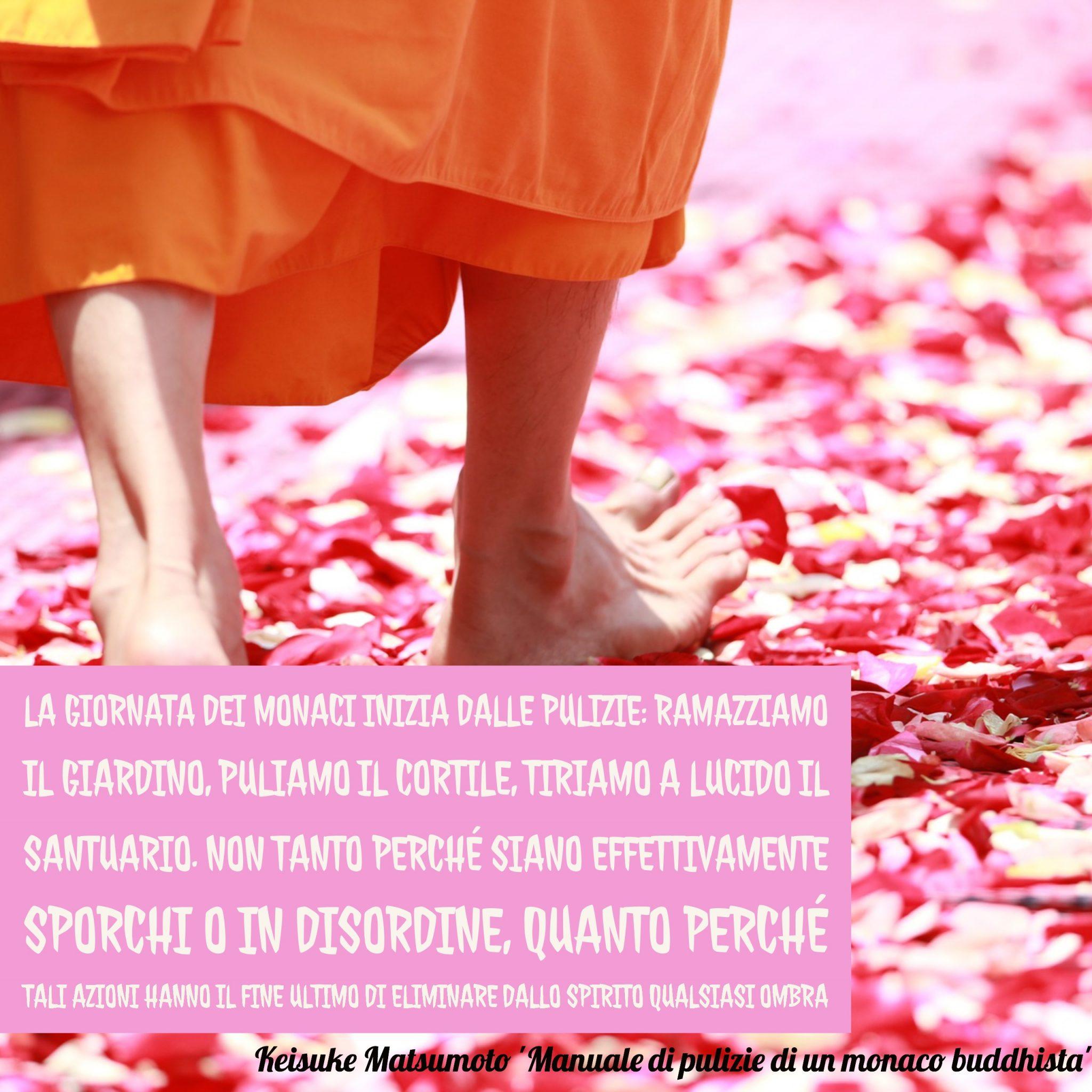 Manuale di pulizie di un Monaco buddhista - immagine in CC pubblicata da tatianaberlaffa.com