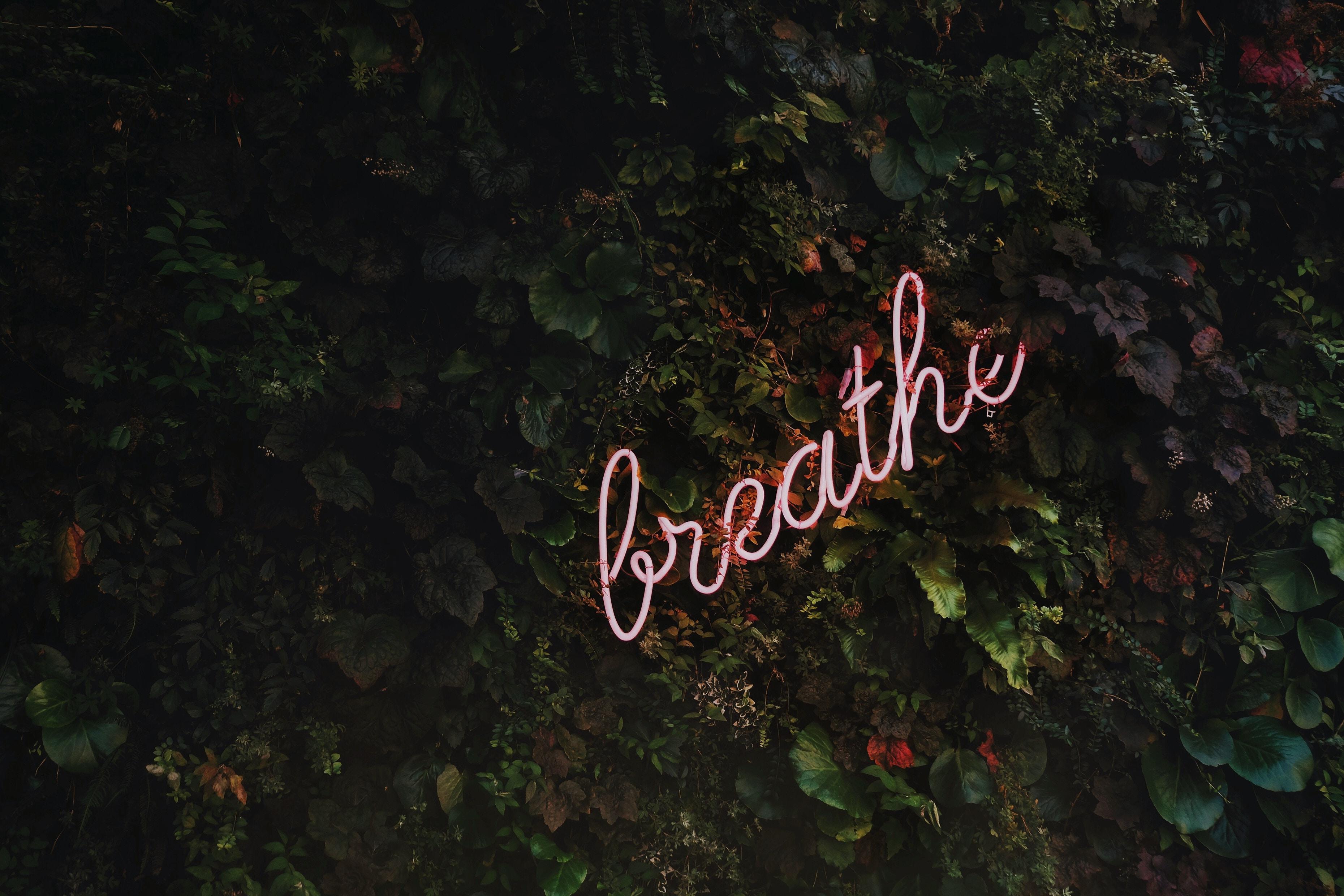 Breathe - scritta al Neon - i 3 migliori centri mindfulness di Milano - tatianaberlaffa.com