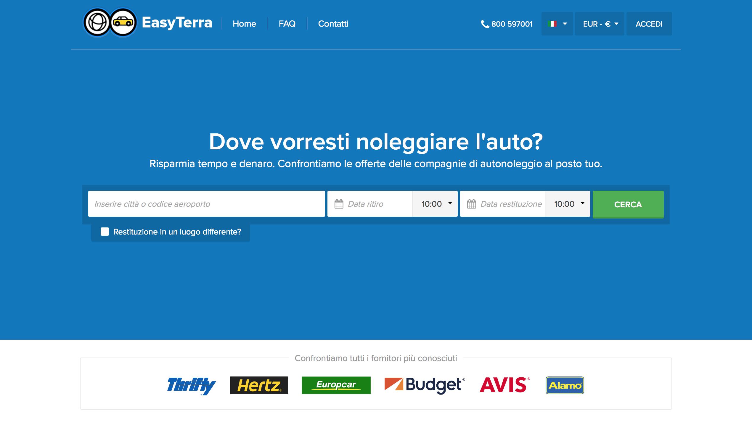 Homepage sito easyterra.it - immagine di tatianaberlaffa.com