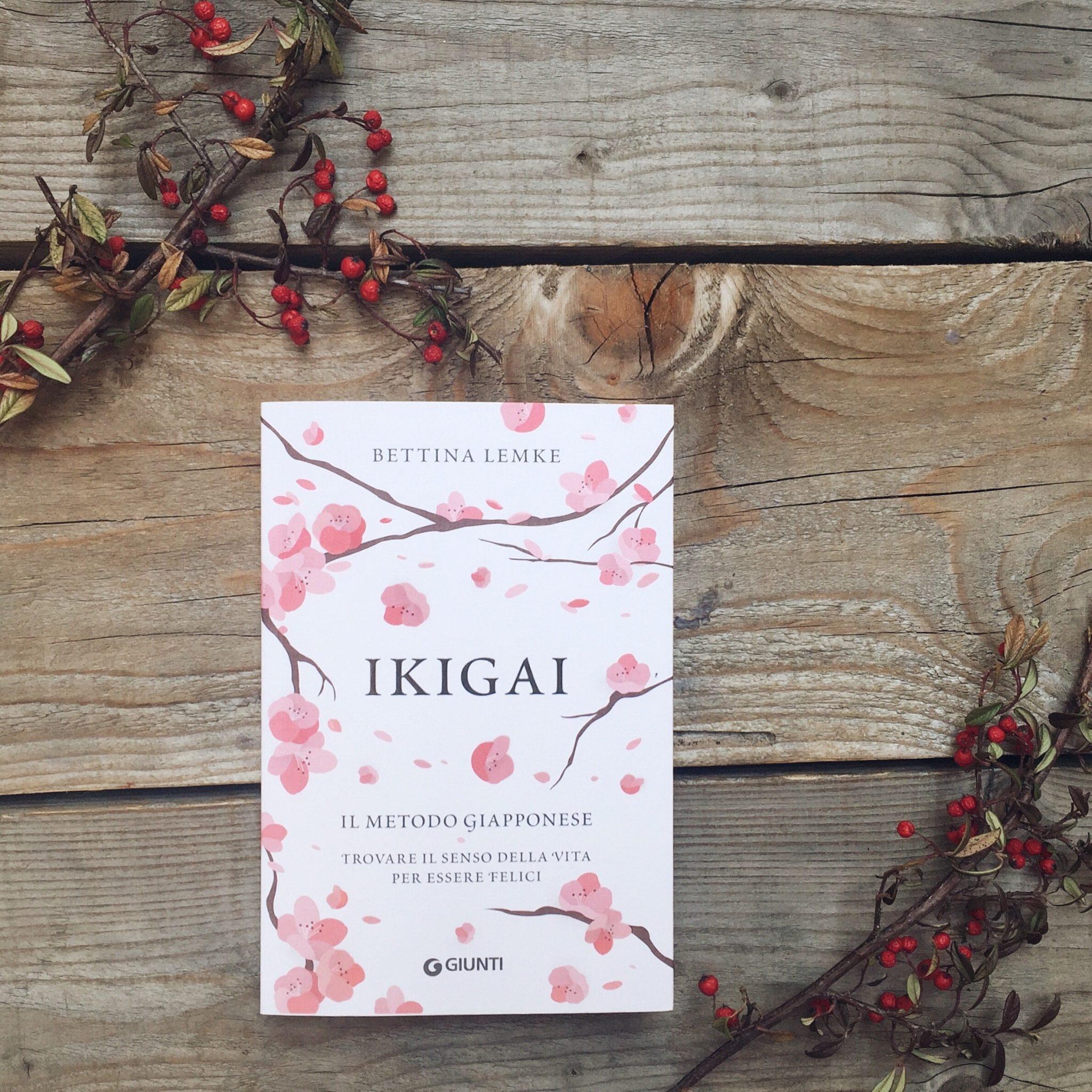 Ikigai - libro di Bettina Lemke in italiano Giunti Editore appoggiato su delle assi accanto a bacche rosse - tatianaberlaffa.com
