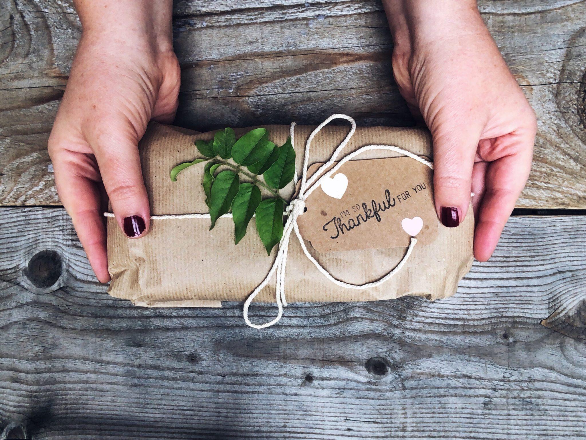 Regalo di Natale tra le mani di una donna - tatianaberlaffa.com