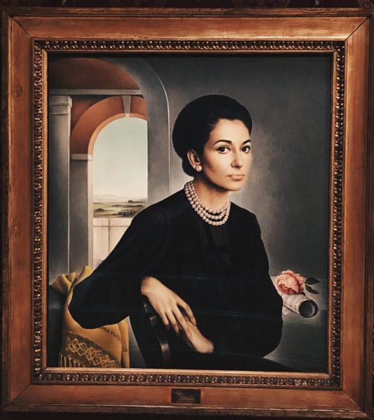 Dipinto raffigurante Maria Callas - Museo della Scala - tatianaberlaffa.com