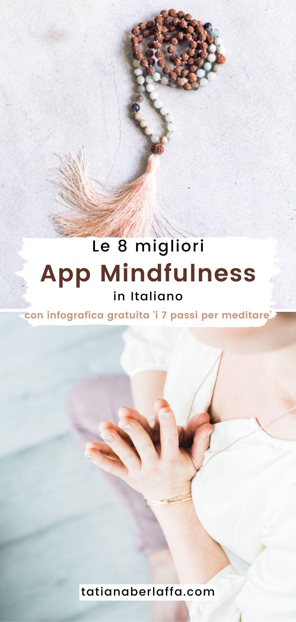 Le 8 migliori App di meditazione con infografica gratuita 'i 7 passi per meditare'