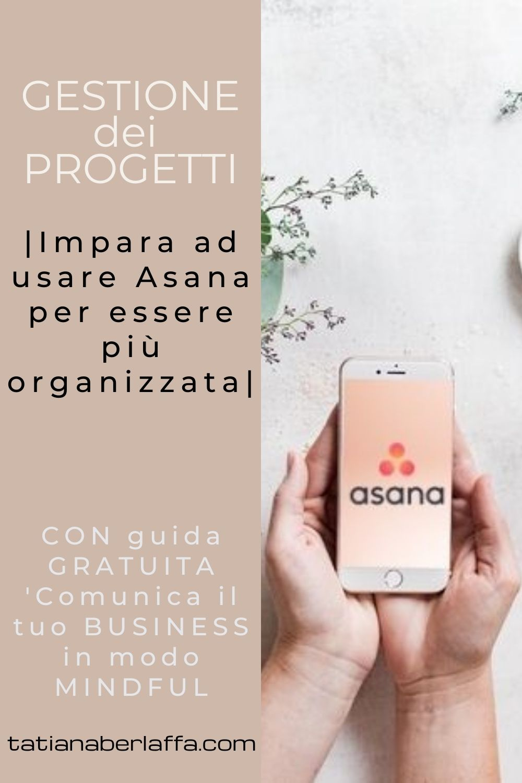 Gestione dei progetti e degli obiettivi: Impara ad usare Asana per essere più organizzata.